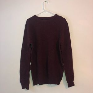 Men's Forever 21 Maroon Knit Sweater